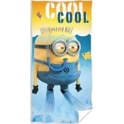 Ręcznik Minionki 0614 CARBOTEX rozmiar 70x140 cm